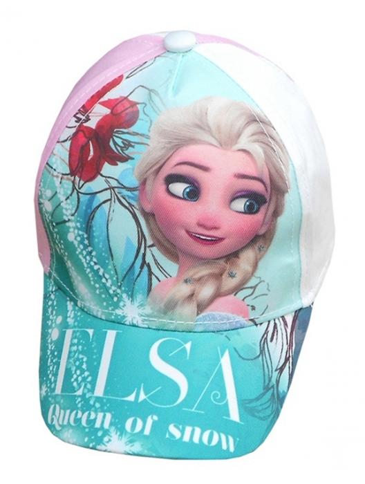 5b4dc092944 Dívčí letní kšiltovka s motivem princezny Elsy z pohádky Ledové království.