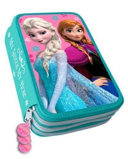 Školní třípatrový penál v designu Disney Ledové království Anna a Elsa 379e4848c7