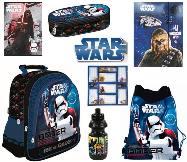 Zvýhodněná školní sada s motivem Star Wars Epizoda VII. obsahuje 7 kusů -  školní ergonomický batoh c3268bfea4
