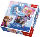 PUZZLE DISNEY FROZEN 3 V 1 MIX 20,36,50 dílků
