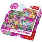 PUZZLE MY LITTLE PONY 4 V 1 MIX 35,48,54,70 DÍLKŮ