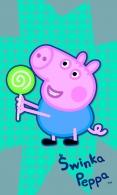 RUČNÍK PRASÁTKO PEPPA PIG modrý
