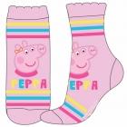 DÍVČÍ PONOŽKY PRASÁTKO PEPPA PIG světle růžové