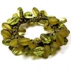 GUMIČKA DO VLASŮ olivově zelená