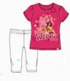 DÍVČÍ LETNÍ KOMPLET WINX - TRIČKO + LEGÍNY růžový