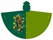 CHLAPECKÁ PLÁŠTĚNKA - PONČO ŽELVY NINJA tmavě zelená