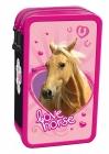 ŠKOLNÍ DVOUPATROVÝ PLNĚ VYBAVENÝ PENÁL KONĚ LOVE HORSE