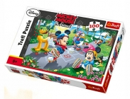 PUZZLE DISNEY MICKEY A MINNIE NA BRUSLÍCH 100 DÍLKŮ