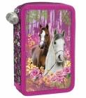 ŠKOLNÍ DVOUPATROVÝ PLNĚ VYBAVENÝ PENÁL KONĚ I LOVE HORSES