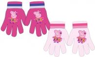 DÍVČÍ ZIMNÍ RUKAVICE PRASÁTKO PEPPA PIG světle růžové
