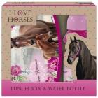 HORSE KONĚ LUNCH SADA BOX NA SVAČINU A LÁHEV NA PITÍ DÁRKOVÉ BALENÍ