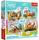 PUZZLE HORSE SPIRIT VOLNOST NADE VŠE 4v1 MIX 35,48,54,70 DÍLKŮ