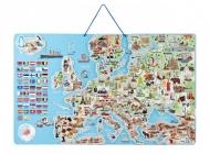 WOODY MAGNETICKÁ MAPA EVROPY V AJ SPOLEČENSKÁ HRA 3 V 1