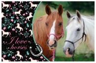 JÍDELNÍ PODLOŽKA - PROSTÍRÁNÍ HORSE KONĚ BLACK