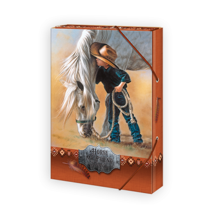 BOX NA SEŠITY A5 KONĚ HORSE MY FRIEND