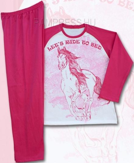 DÍVČÍ PYŽAMO HORSE KŮŇ LET´S RIDE TO BED
