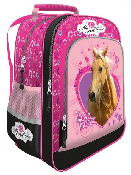 ŠKOLNÍ ERGONOMICKÝ BATOH KONĚ LOVE HORSE