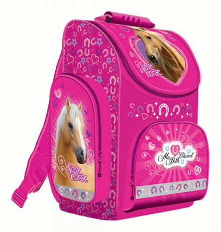 ŠKOLNÍ ERGONOMICKÝ BATOH - AKTOVKA KONĚ LOVE HORSE