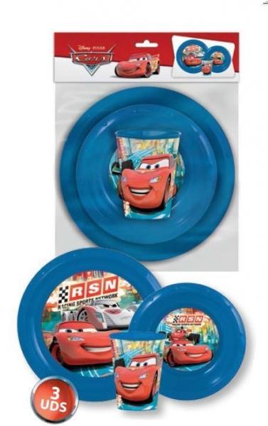 SNÍDAŇOVÁ JÍDELNÍ SADA DISNEY CARS červená