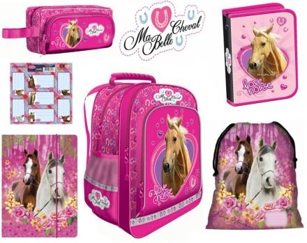 ZVÝHODNĚNÁ ŠKOLNÍ SADA KONĚ LOVE HORSE 6 KS