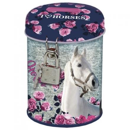 POKLADNIČKA SE ZÁMKEM HORSE KONĚ