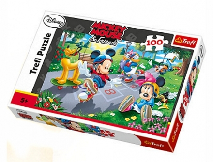 PUZZLE DISNEY MICKEY A MINNIE NA BRUSLÍCH 100…
