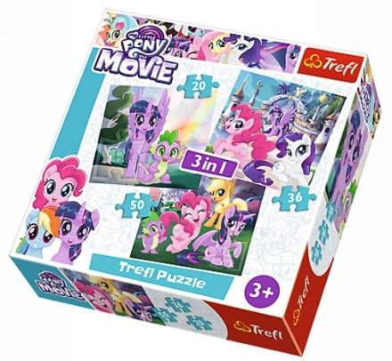 PUZZLE MY LITTLE PONY 3 V 1 MIX 20,36,50 DÍLKŮ