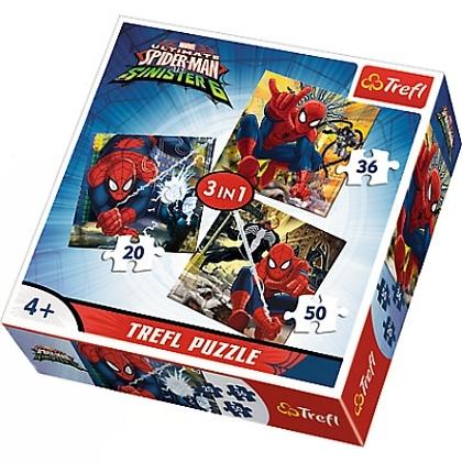 PUZZLE SPIDERMAN 3 V 1 MIX 20,36 A 50 DÍLKŮ