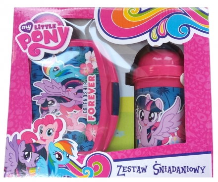 MY LITTLE PONY SADA BOX NA SVAČINU A LÁHEV NA…