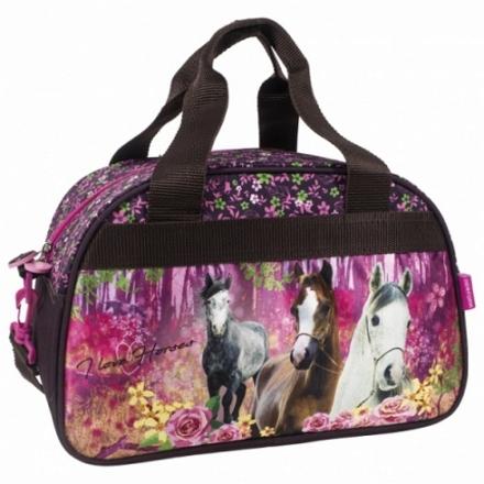 SPORTOVNÍ TAŠKA KONĚ I LOVE HORSES