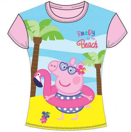 DÍVČÍ TRIČKO PRASÁTKO PEPPA PIG světle růžové