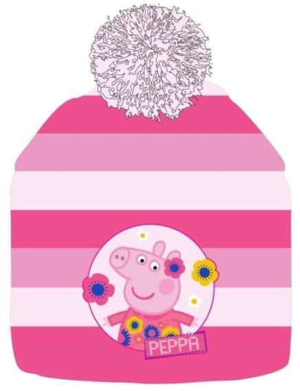 ZIMNÍ ČEPICE PRASÁTKO PEPPA PIG růžová