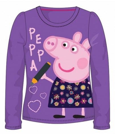DÍVČÍ TRIČKO PRASÁTKO PEPPA PIG fialové