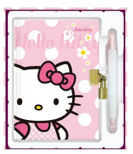 DIÁŘ A5 SE ZÁMKEM HELLO KITTY KIDS 2011