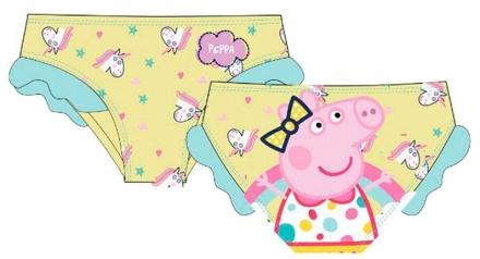 DÍVČÍ PLAVKY - BIKINY PRASÁTKO PEPPA PIG žluté