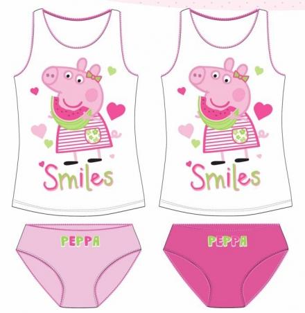 DÍVČÍ SPODNÍ PRÁDLO PRASÁTKO PEPPA PIG světle…