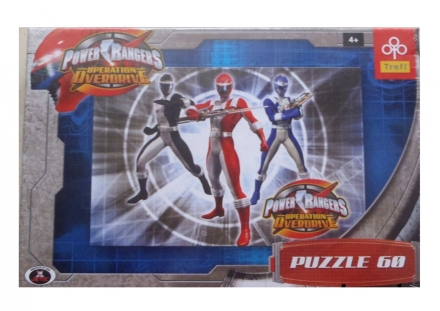 PUZZLE POWER RANGERS OPERATION OVERDRIVE 60 DÍLKŮ