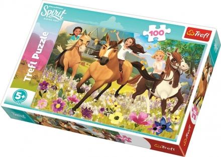 PUZZLE HORSE SPIRIT ÚTĚK ZA SNY 100 DÍLKŮ