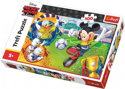 PUZZLE MICKEY MOUSE NA FOTBALE 100 DÍLKŮ