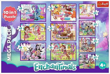PUZZLE ENCHANTIMALS 10 v 1
