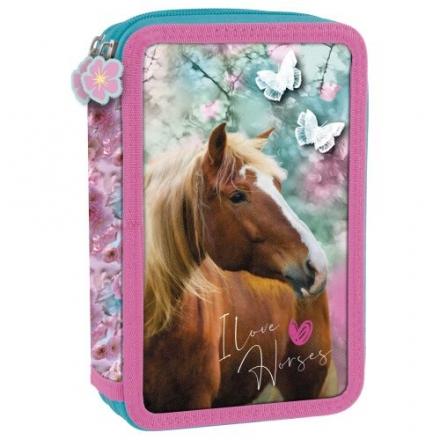 DVOUPATROVÝ PLNĚ VYBAVENÝ PENÁL KONĚ I LOVE HORSES