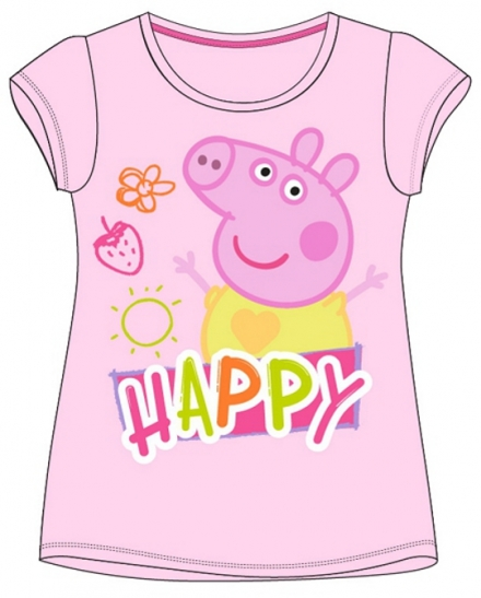 DÍVČÍ TRIČKO PRASÁTKO PEPPA PIG růžové