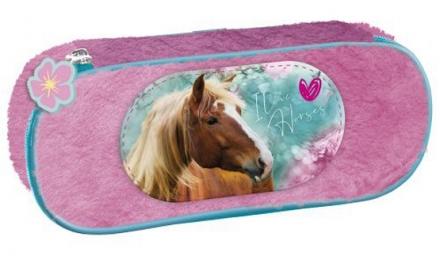 PLYŠOVÉ POUZDRO - ETUE KONĚ I LOVE HORSES