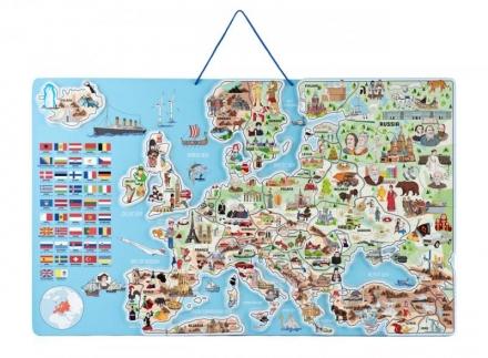 WOODY MAGNETICKÁ MAPA EVROPY V AJ SPOLEČENSKÁ HRA…