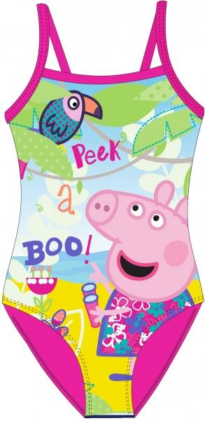 DÍVČÍ PLAVKY VCELKU PRASÁTKO PEPPA PIG růžové
