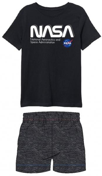 CHLAPECKÉ LETNÍ PYŽAMO NASA černé