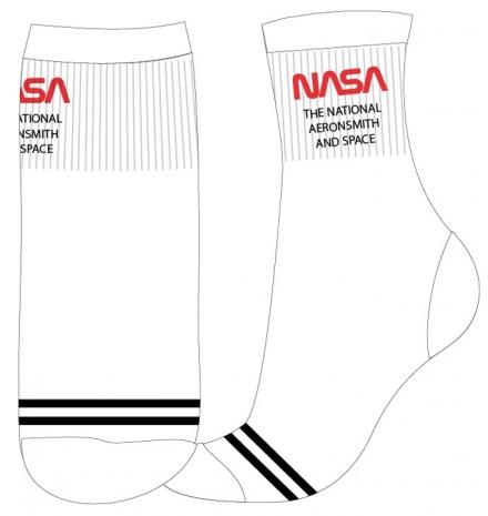 CHLAPECKÉ/PÁNSKÉ PONOŽKY NASA SPORT bíločerné