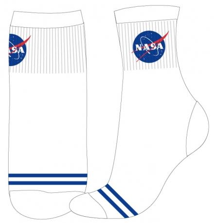 CHLAPECKÉ/PÁNSKÉ PONOŽKY NASA SPORT bílomodré